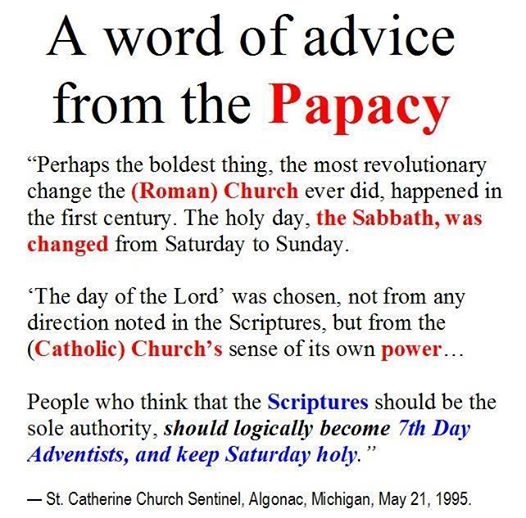 A word of advice from the Papacy